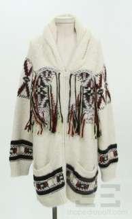 Isabel Marant Cream Alpaca & Wool Zip Up Sweater Size 2 NEW