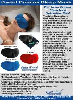 SWEET DREAMS SLEEP MASK/RELAXATION MASK/TRAVEL MASK (MIDNIGHT BLACK