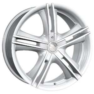 15x7 Ion Alloy wheels STYLE 161 HyperSilver wheels rims: Automotive