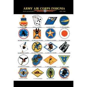 Army Air Corps Insignia 12x18 Giclee on canvas