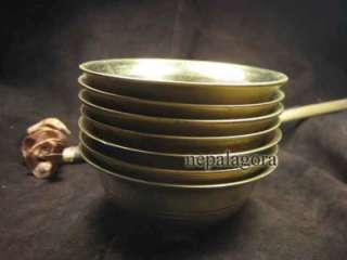 Tibetan BUDDHIST Tribal offering BOWL set 7 TIBET NEPAL
