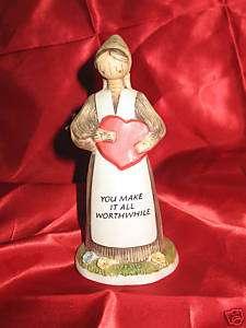 Jesse Country Harvest Corn Husk Doll Figurine Valentine