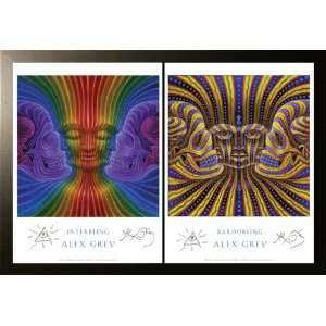 Interbeing & Bardobeing   Framed & Paired Posters Signed by Alex Grey