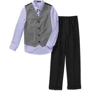 George   Boys 4 Piece Shirt, Pants, Vest and Tie Set Boys