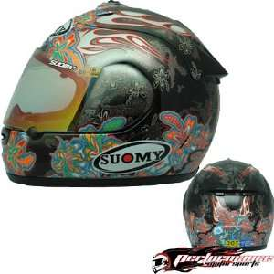 SUOMY SPEC 1R EXTREME ANTHRACITE FLOWERS HELMET MD