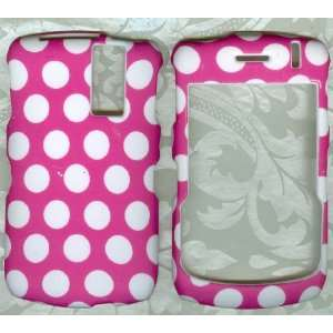 pink white dot BLACKBERRY CURVE 8310 8320 8330 PHONE COVER