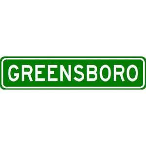 GREENSBORO City Limit Sign   High Quality Aluminum Sports