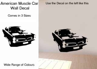 American Muscle Car Wall Art Vinyl Tattoo Sticker/Decal