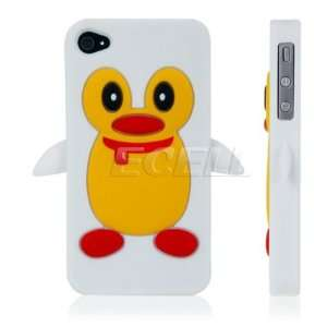 Ecell   WHITE PENGUIN PROTECTIVE SILICONE GEL SKIN CASE