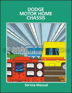 1978 1979 Dodge Motor Home Repair Shop Manual Motorhome
