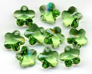 10 Swarovski 6744 Peridot Austrian Crystal Prism Beads