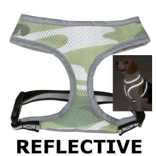 Casual Canine Reflective Mesh Dog Harness   Camoflage