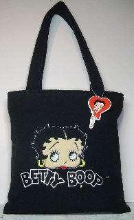 Betty Boop Terry Cloth Handbag Purse Tote Black