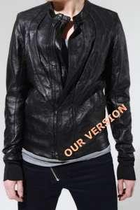 CK0W3N$ leather jacket ro fan vintage fanny XSmall