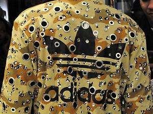 Adidas ObyO Jeremy Scott Military Camo Crystal Hole Track Jacket Size