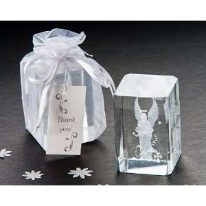 Wedding Favors Guardian Angel Laser Etched Crystal Favor