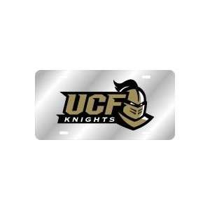 License Plate   UCF KNIGHTS WITH KNIGHT HEAD LOGO SILVER/BLACK/GOLD