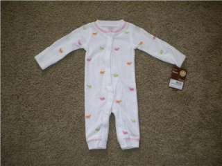 Carters Baby Girl Clothes 3 Piece Outfit Set Pink Owls 3 6