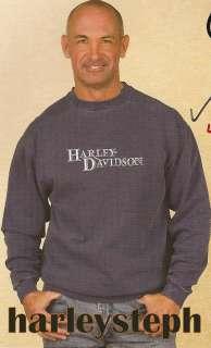 Harley Davidson Mens Everlasting Blue Crew Sweatshirt