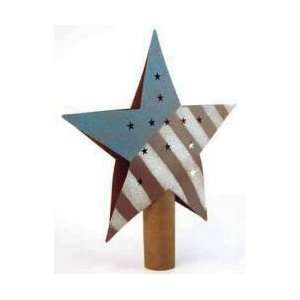 Primitive Rusty Tin Americana Star Tree Topper