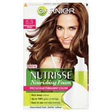 Garnier Nutrisse Foam 5.3 Golden Medium Brown   Groceries   Tesco