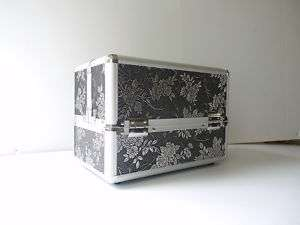 makeup train case bag cosmetic kit travel Antique Flora