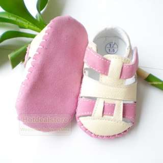 pink and white baby girl leather shoes sandals