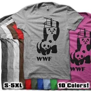 WWF PANDA BEAR wrestling shirt Retro Funny Cool t shirt