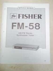 Fisher Service/Repair Manual~FM 58 Stereo Tuner