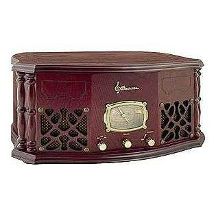 Heritage Series Home Stereo System with AM/FM Receiver and Belt Drive
