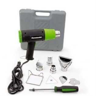 Kawasaki 840015 Black 10 Piece Heat Gun Kit