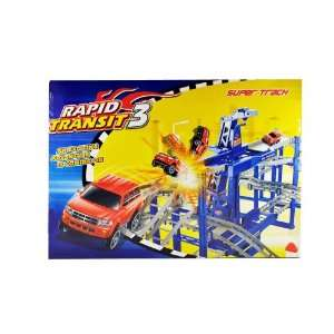 9788 Rapid Transit Super Track Racing Car toy Set: Toys