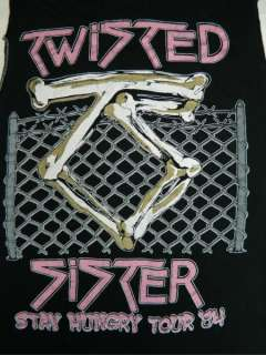 TWISTED SISTER 1984 STAY HUNGRY TOUR T SHIRT ORIGINAL 80S CONCERT CREW