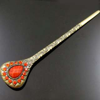 ADDL Item  1pc rhinestone crystal Antiqued hair stick