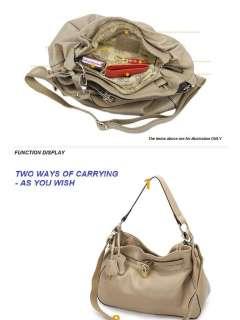 EG Bags   Women Genuine Cowhide Leather Shoulder Tote Hobo Bags