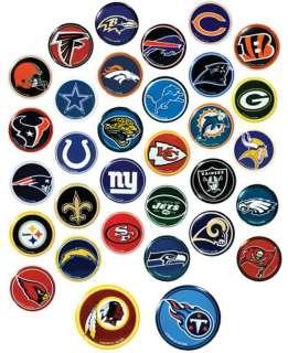 NFL FOOTBALL PIN PINS BUTTON HAT 32 TEAM LOGO NEW HOT