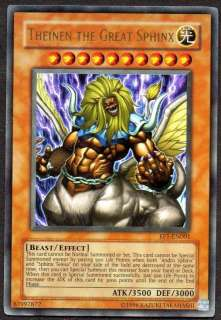 YUGIOH CARD   THEINEN THE GREAT SPHINX   ULTRA RARE