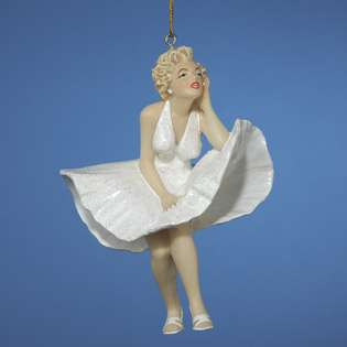 Marilyn Monroe in Iconic 7 Year Itch White Dress Christmas Ornament