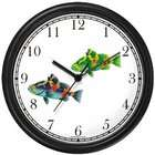 WatchBuddy Two Colorful Coy Fish Wall Clock by WatchBuddy Timepieces
