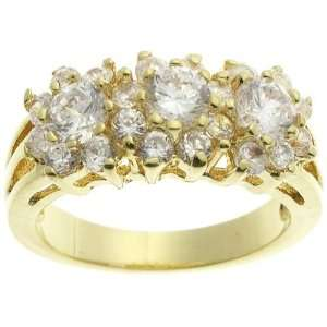 18K Yellow Gold Plated CZ Romantic Ring Jewelry