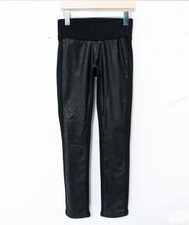 NWT Women Ladys korean Fashion faux leather legging pants k10257