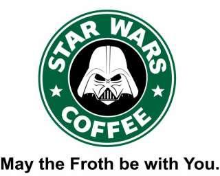 STAR WARS COFFEE Cool Funny Coffee Parody T Shirt XL