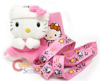 Hello Kitty Plush Key Chain Lanyard ID Holder 1