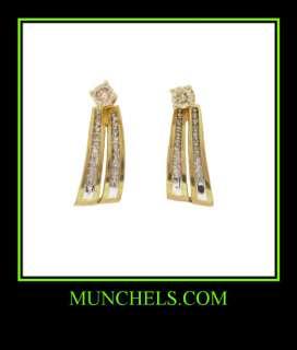 LADIES 14K YELLOW GOLD DIAMOND STUDS W/JACKET EARRINGS
