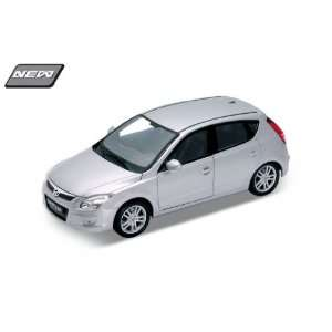 Hyundai I30 Silver 124 Diecast Model Car Toys & Games