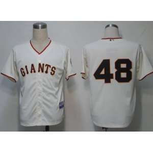 2012 San Francisco Giants #48 Sandoval Cream Jersey