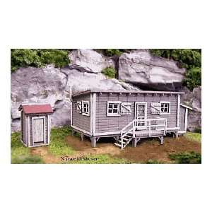 N KIT Laser Cut Joes Cabin & Outhouse: Toys & Games