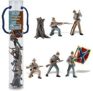 CONFEDERATE ARMY VINYL TOY SOLDIERS ARMY MEN FIGURES