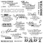 Fiskars 8 Inch by 8 Inch Quote Clear Stamps, Precious Baby