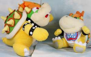 lot 2 mario bros bowser 7 10 plush toy doll